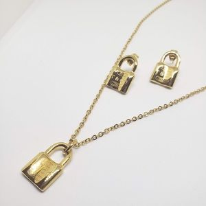 Stainless Steel Set Earrings & Necklace Imitation